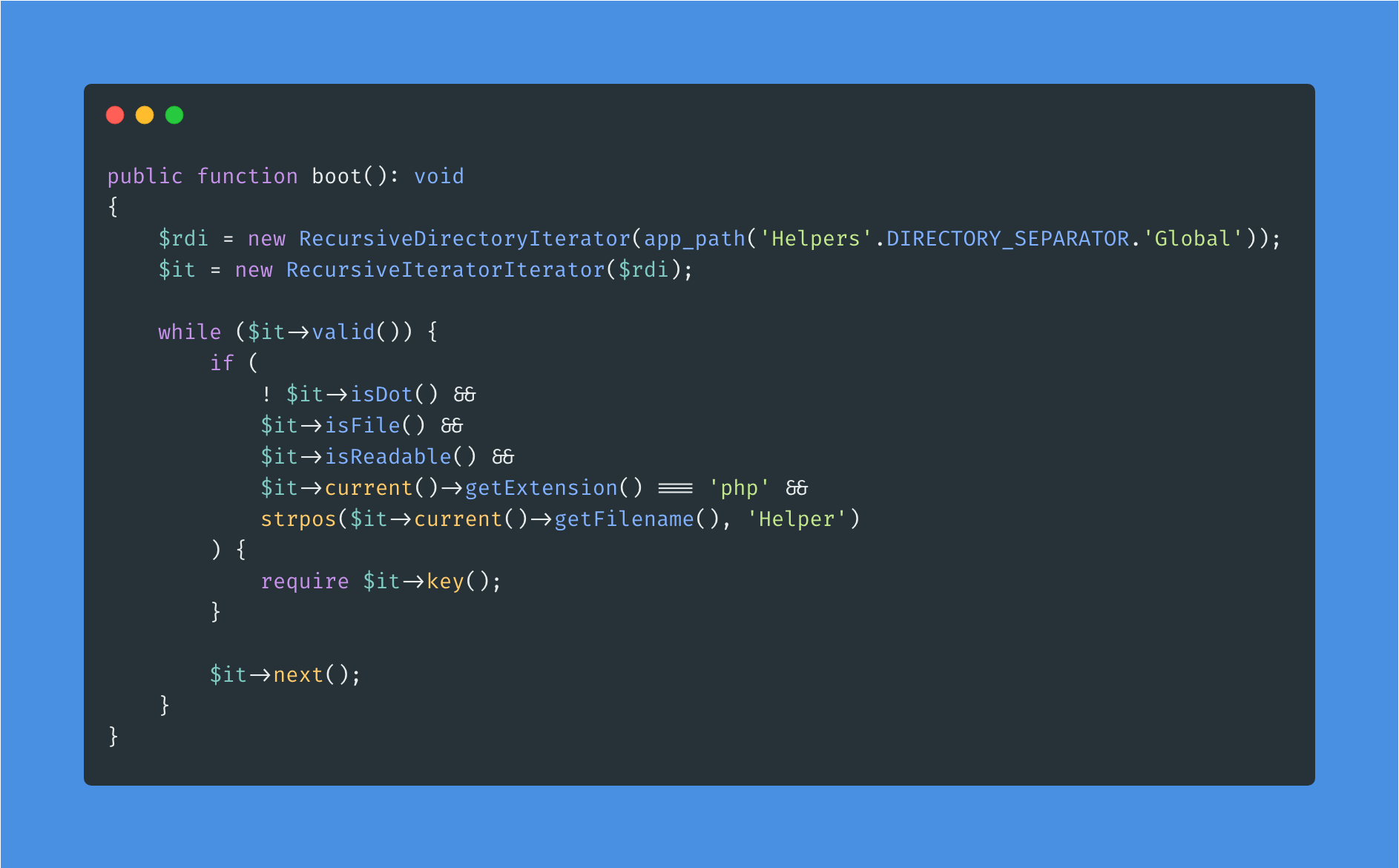 Snippet 4: How I autoload my helper functions - Post Image