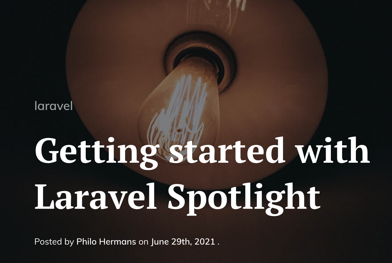 Getting started with Laravel Spotlight - Post Image