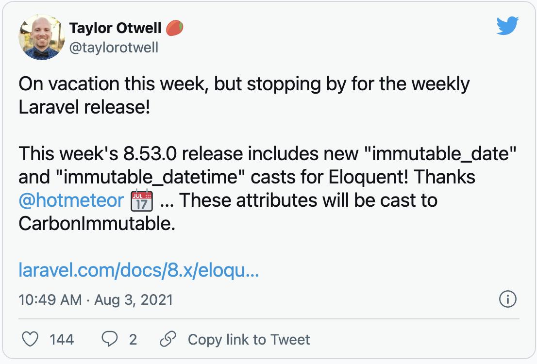 Immutable dates in Laravel - Post Image
