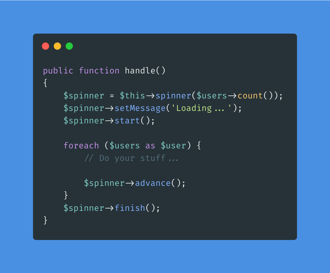 Laravel Console Spinner - Package Image