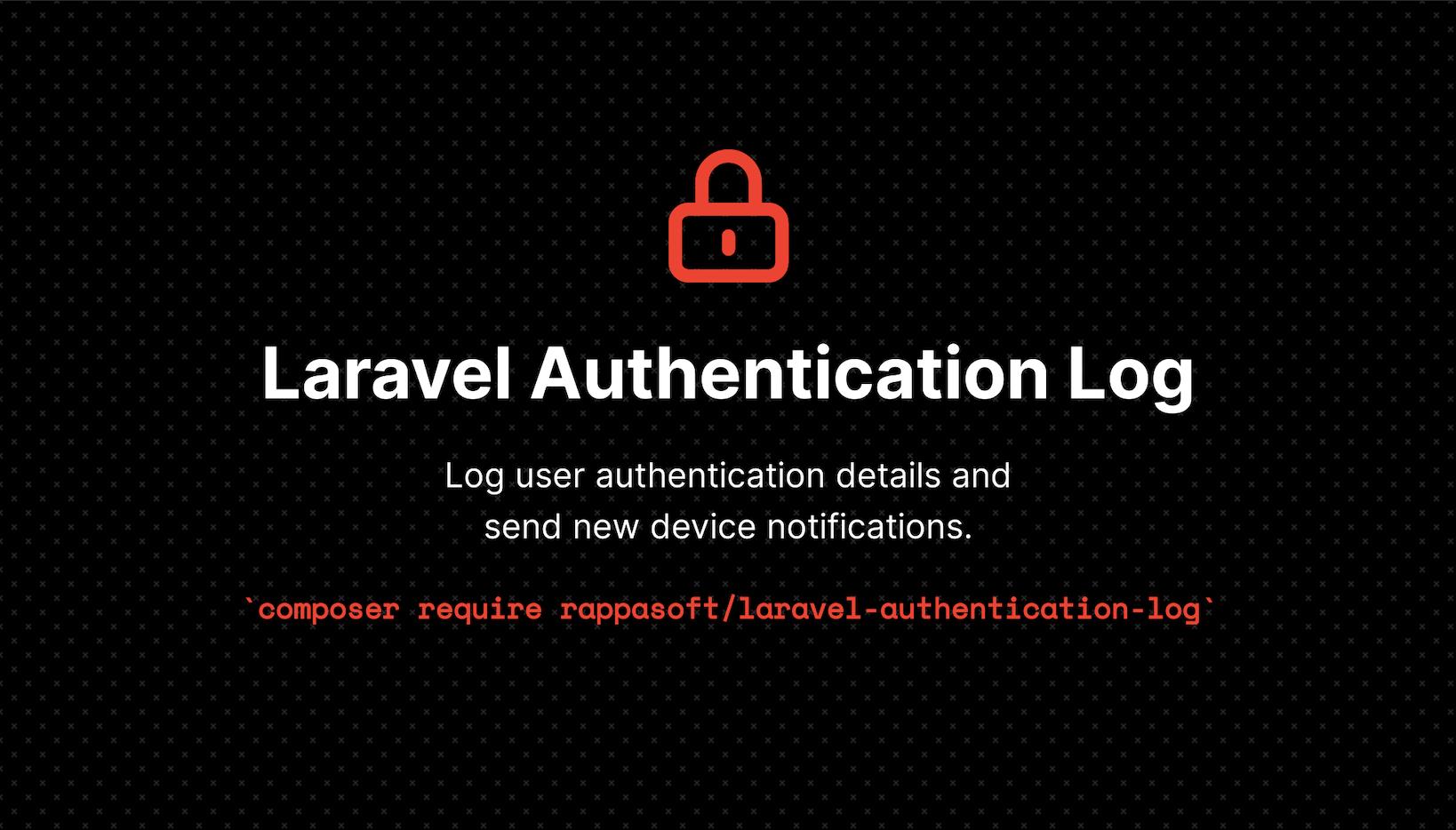 Laravel Authentication Log - Package Image