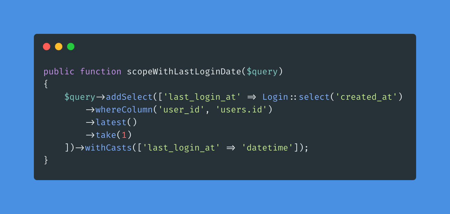 Dynamic relationships in Laravel using subqueries - Post Image