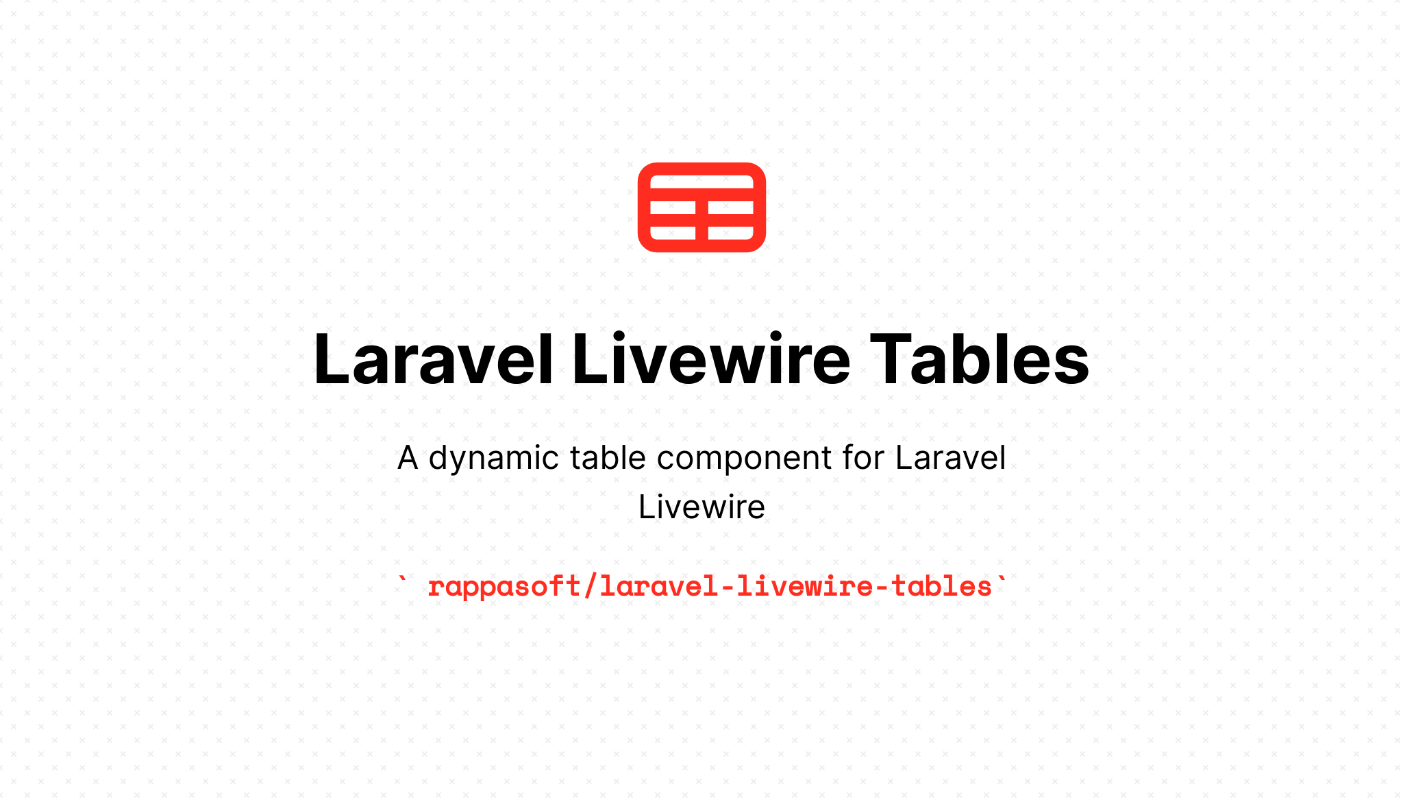 Laravel Livewire Tables - Package Image