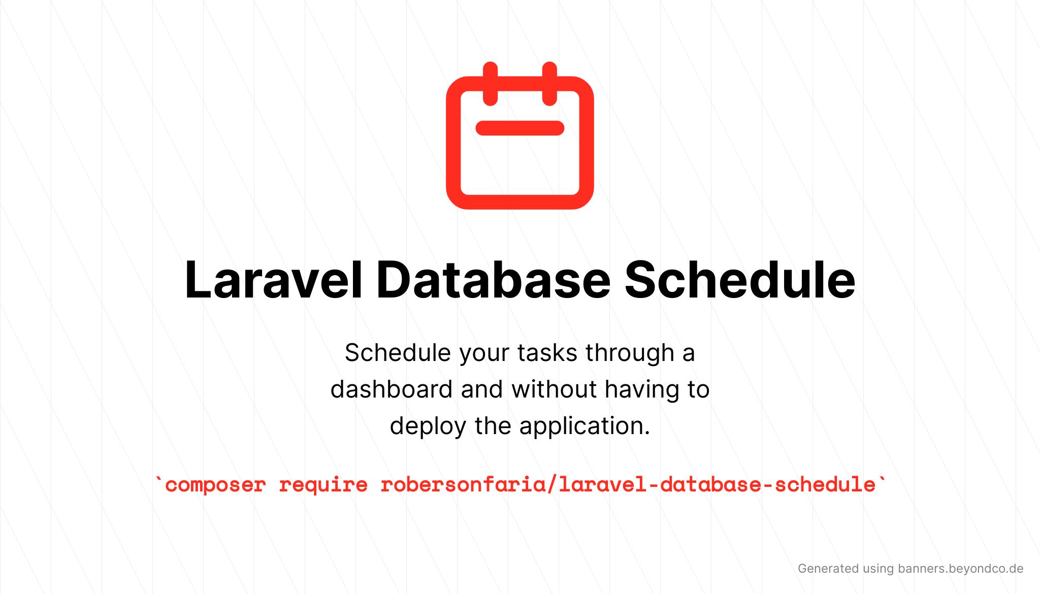 Laravel Database Schedule - Package Image