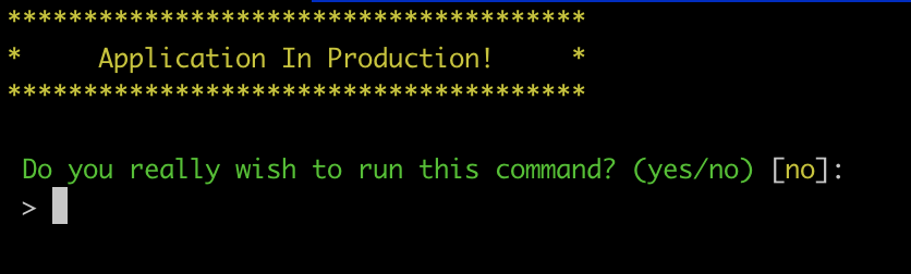 Snippet 1: Using Laravel's ConfirmableTrait in commands - Post Image