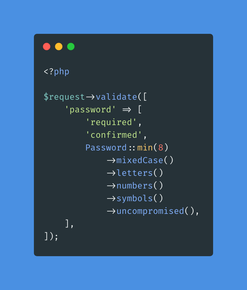 Password Validation Rule Object in Laravel 8 - Post Image