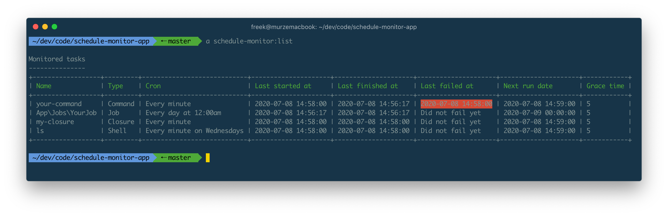 Monitor scheduled tasks in a Laravel app - Package Image