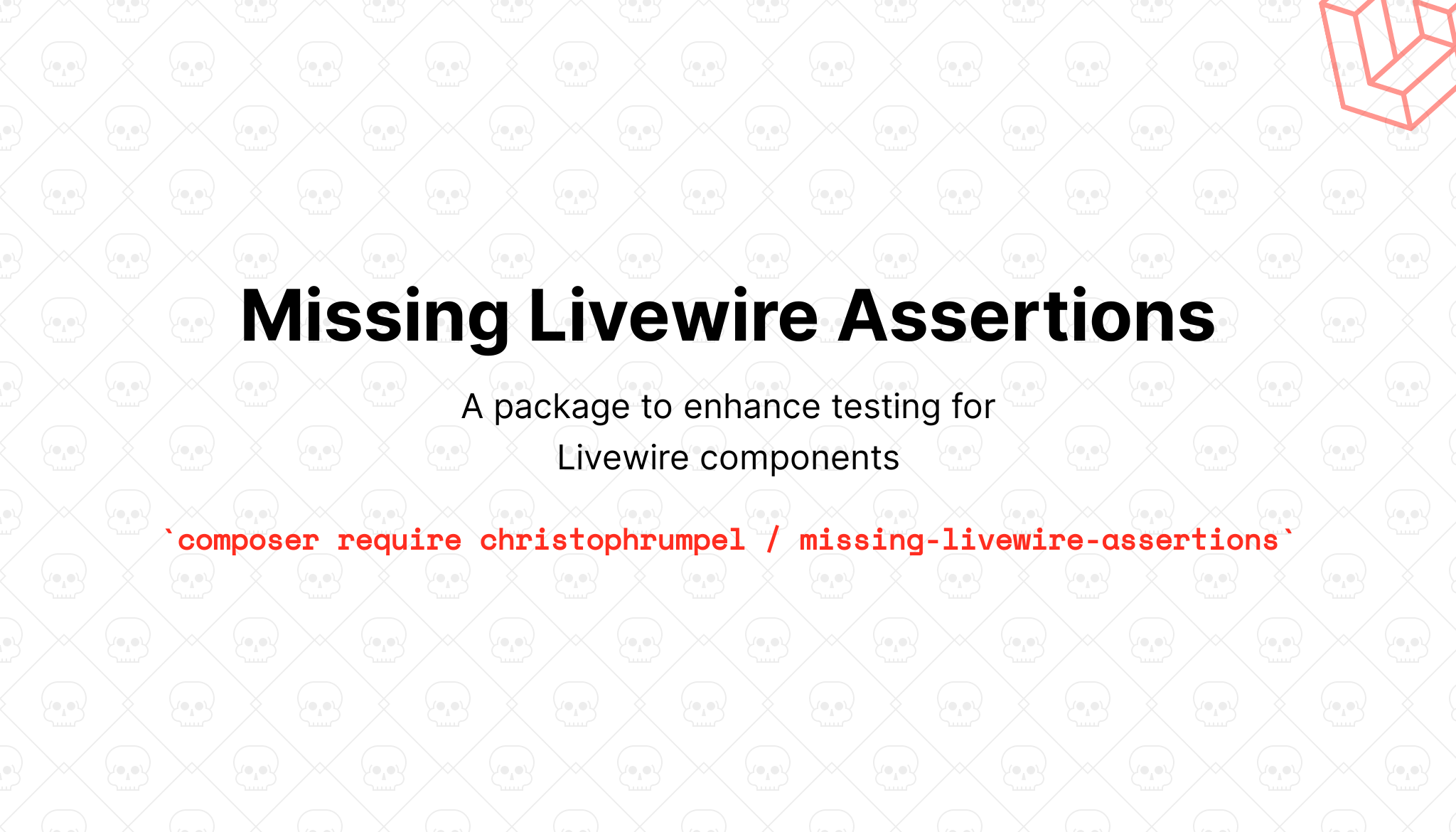 Missing Livewire Assertions - Package Image